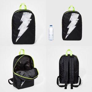 2 NWT boys lightning bolt black backpacks